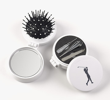 GOLFERS HAIRBRUSH @ NAIL CARE KIT